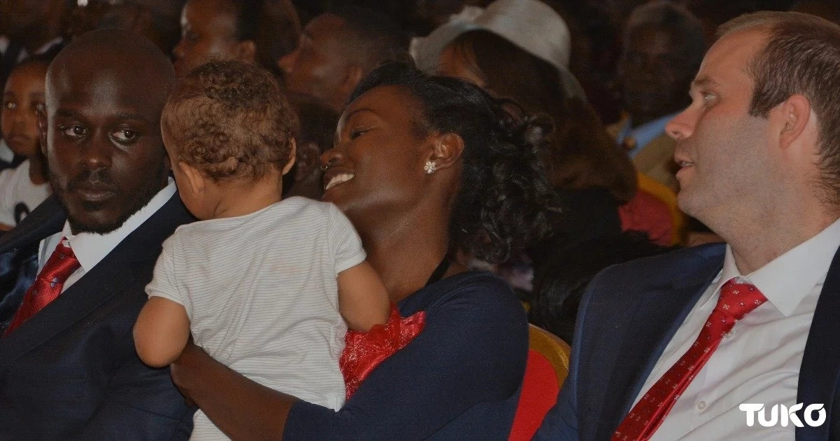 The little playful boy who WOWED women at Gachagua's funeral