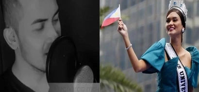 Pinoy shares message of love and admiration in a song he composed for Miss Universe Pia Wurtzbach