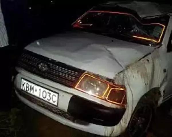 Wakazi Limuru wakosa UTU na kuiba nyama kwenye gari lililopata ajali