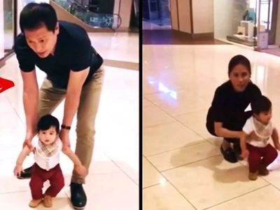 Sobrang sweet si lolo! Watch Toni Gonzaga and her daddy Bonoy teach baby Seve how to walk!