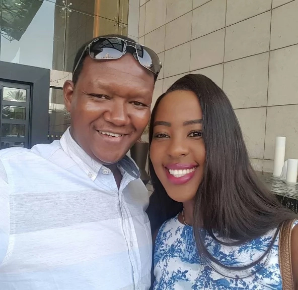 Machakos Governor Alfred Mutua gets a SWEET kiss from his wife Lilian (photos)