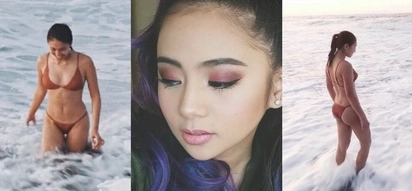 Stunned Ella Cruz swoons over Nadine Lustre's sultry two-piece swimsuit photos