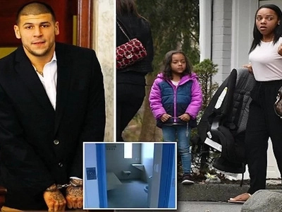 Aaron Hernandez leaves notes to his gay prison LOVER, fiancée and daughter, 4, before taking his life in cell