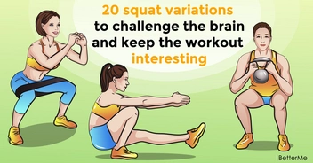 20 squat variations to challenge the brain and keep the workout interesting