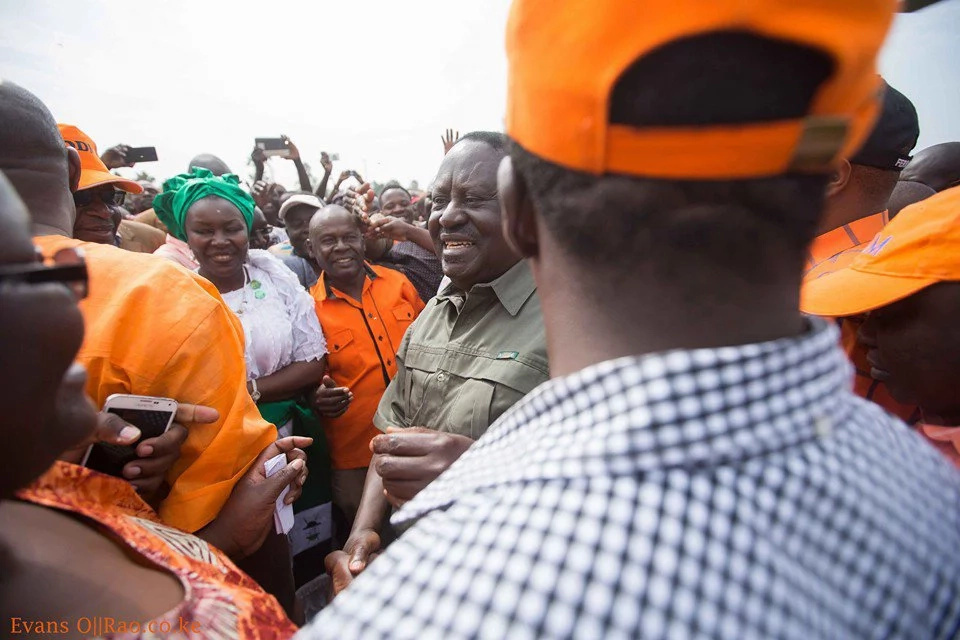 Raila Odinga in Busia for two day tour