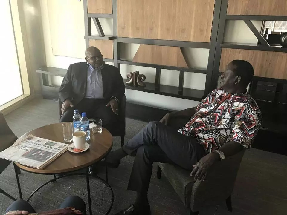 Raila jets out of the country to Nigeria