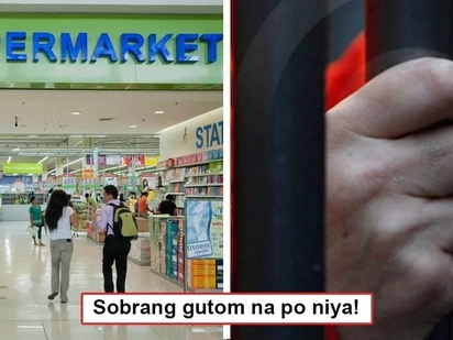 Sobrang gutom na ni kuya! Hypermarket employee arrested after eating P31.50 worth corned beef because of extreme hunger!
