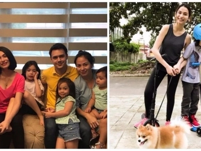 World peace na talaga! Jennylyn Mercado, Dennis Trillo, Patrick Garcia, wife and kids in one photo together