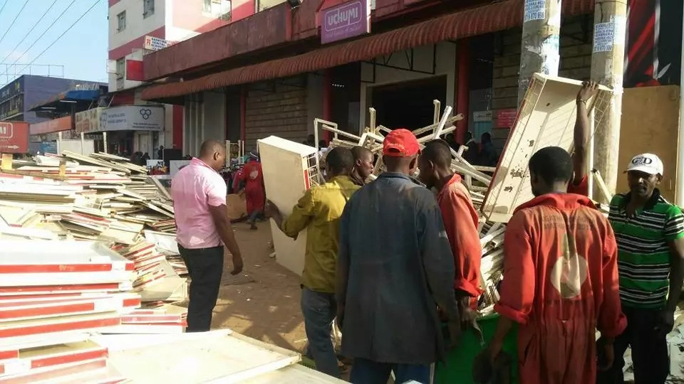 Uchumi Supermarket forcibly evicted from its premises in Karatina, Nyeri County