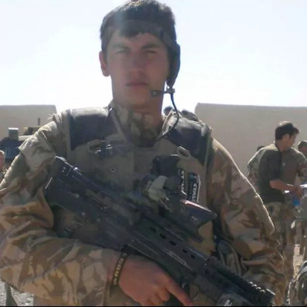 Stuart suffered a gunshot wound while on duty in Afghanistan. Photo: Daily Mirror