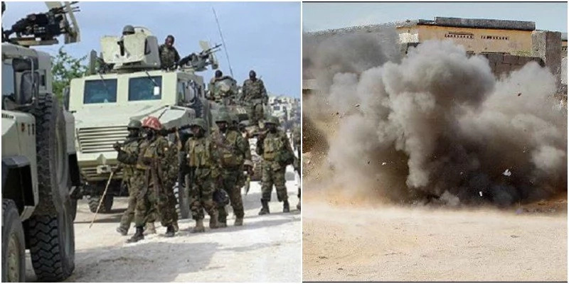 KDF soldiers pass, then bomb explodes in Somalia