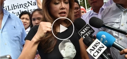Nakamit din ang hinahangad! Imee Marcos celebrates graveyard ruling by planting flag outside Supreme Court