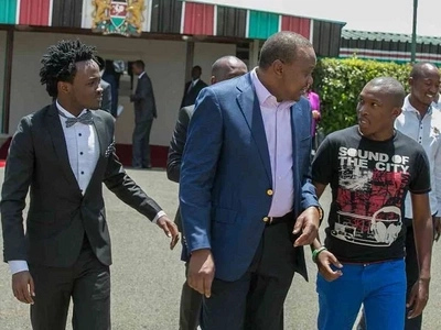 Singer Bahati reveals what President Uhuru told him that almost made him cry