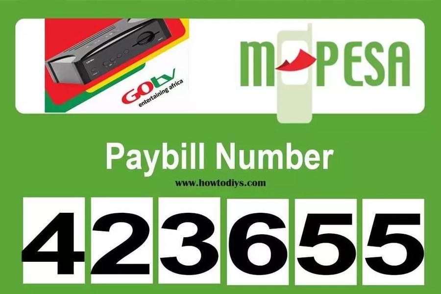 GOtv pay bill number in Kenya