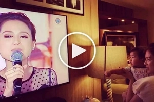 Alex Gonzaga stuns her nephew Severiano by showing him his mom Toni Gonzaga greeting him on TV