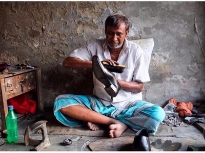Inspirational man, 55, stopped begging as a child and became a proud cobbler for 44 years