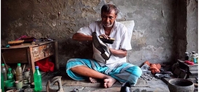 Inspirational man, 55, stopped begging and became a proud cobbler for 44 years