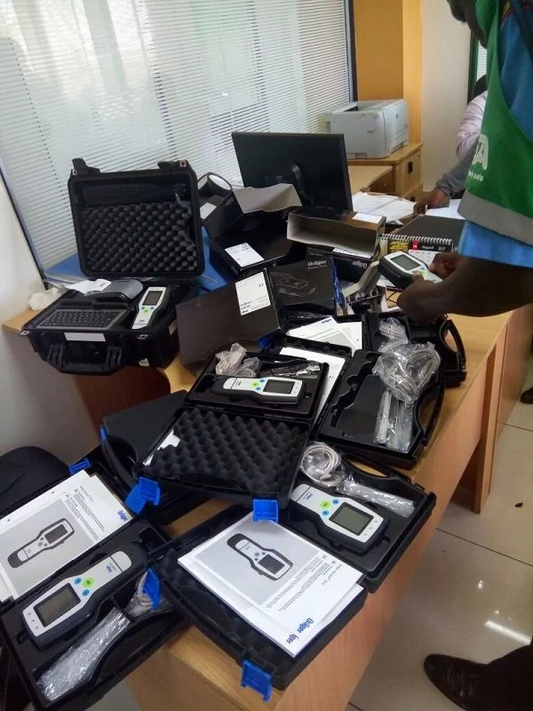 Leaked photo of multi-million gadgets bought by NTSA to combat drink driving