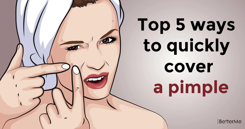 Top 5 ways to quickly cover a pimple