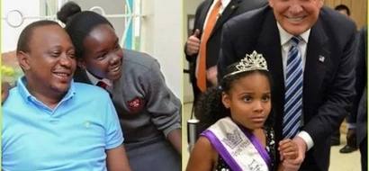 Pictures of Donald Trump with kids vs. Uhuru with kids might just shock you