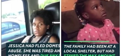 Homeless pregnant woman and a toddler found sleeping on sidewalk. Few days after they were rescued, the pregnant woman gave birth