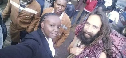 Finally 'Jesus' on the streets of Nairobi speaks, he is mad at this Kenyan