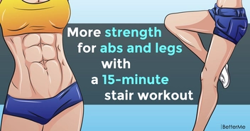 More strength for abs and legs with a 15-minute stair workout