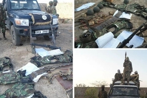Inside al-Shabaab camp as militants displayed bodies of Kenyan cops and police vehicle (photos)