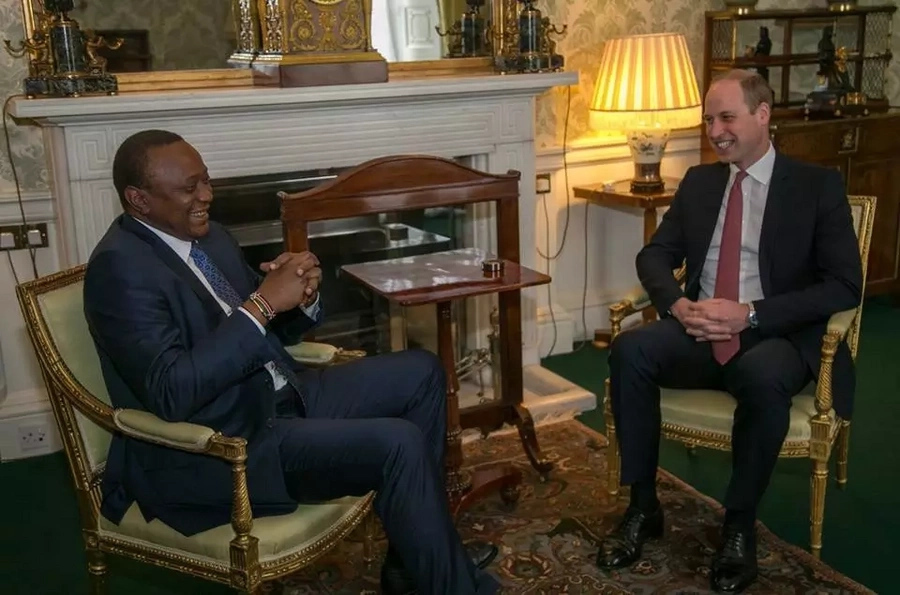 Uhuru meets Prince William, Duke of Cambridge during his UK tour