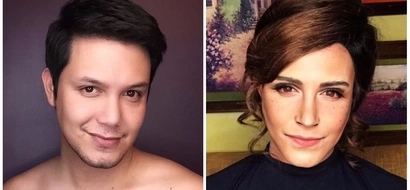 Walang kupas! Paolo Ballesteros shows off his amazing Emma Watson make up transformation