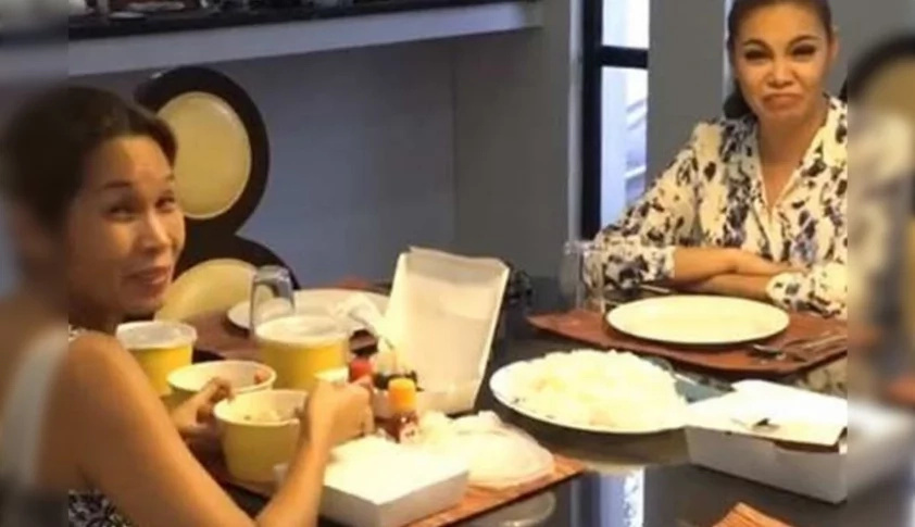 Pokwang's food cravings satisfied by BFF K Brosas, who brings her this sumptuous meal