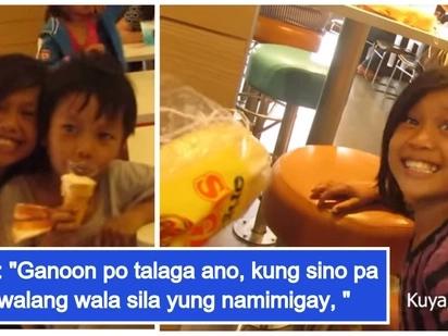 """Dalawang batang vendor, hinangaan sa kanilang """"words of wisdom,"""" nanlibre pa ng kanilang paninda"""