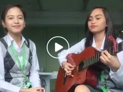 Feels like listening to real angels! Cute Pinay students cover 'Leaving on a Jetplane' in viral Facebook video