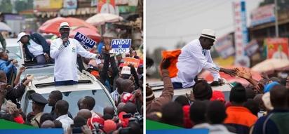 Raila azungumza baada ya kufukuzwa na wafuasi wa Jubilee Thika na Githurai