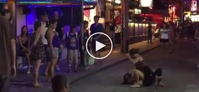 Desperado sila ate! 2 Pinay prostitutes get into wild brawl over potential American customer in Pampanga