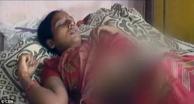 Indian woman tries to burn baby alive inside pregnant daughter