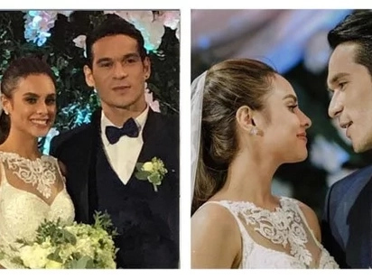 Nakaka-touch talaga! Max Collins and Pancho Magno's emotional wedding vows