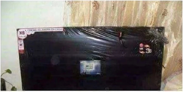 Don't buy TVs in Githurai or this will happen to you(photos)