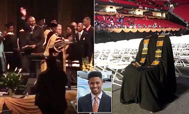 This father receives his son's degree after he was murdered 3 days to graduation (photos, video)