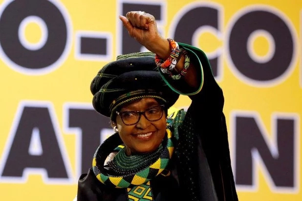 The late South African freedom fighter Winnie Mandela
