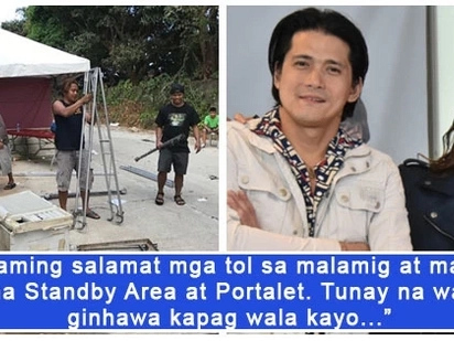 Napaka humble niya talaga! Robin Padilla expresses appreciation towards tent boys