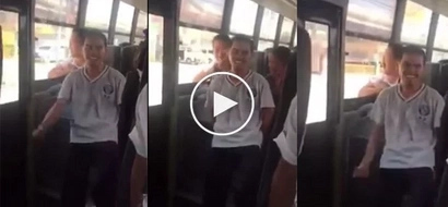 Kinabog si Gerald! This Budoy has the talent for making people happy and these bus passengers are enjoying it!