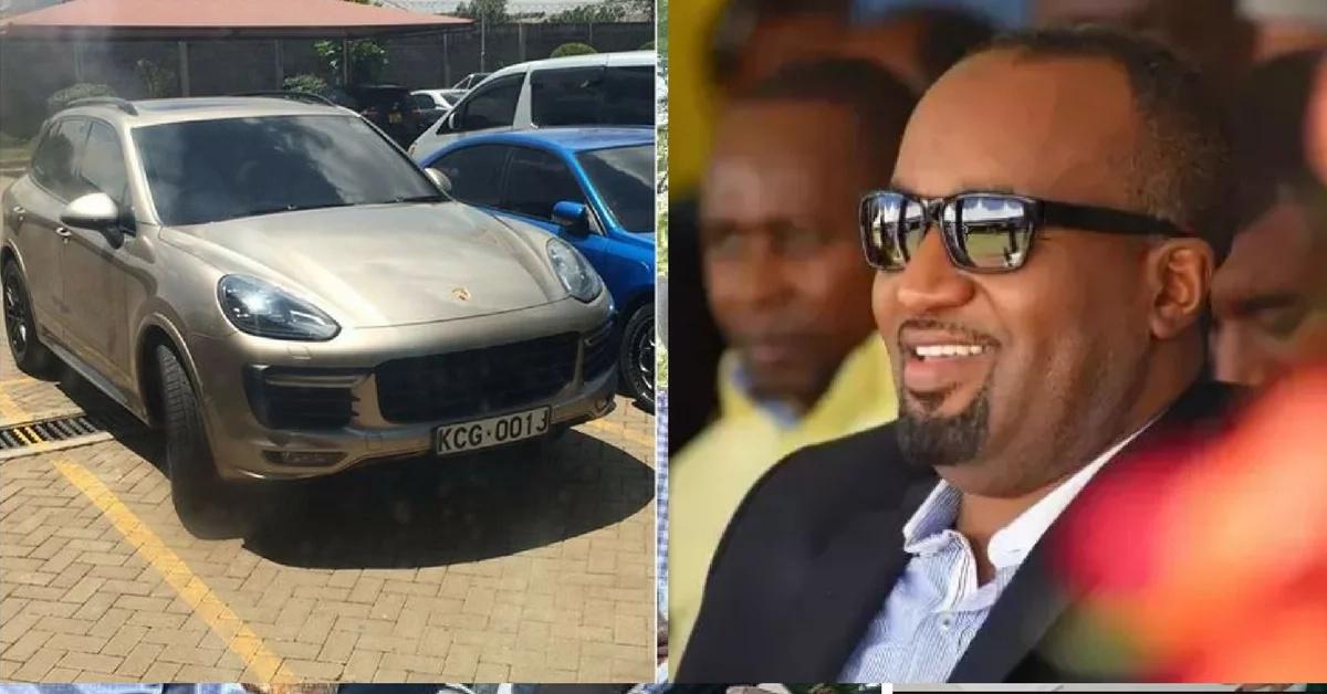 Beautiful TV girl's Porsche registered under Hassan Joho