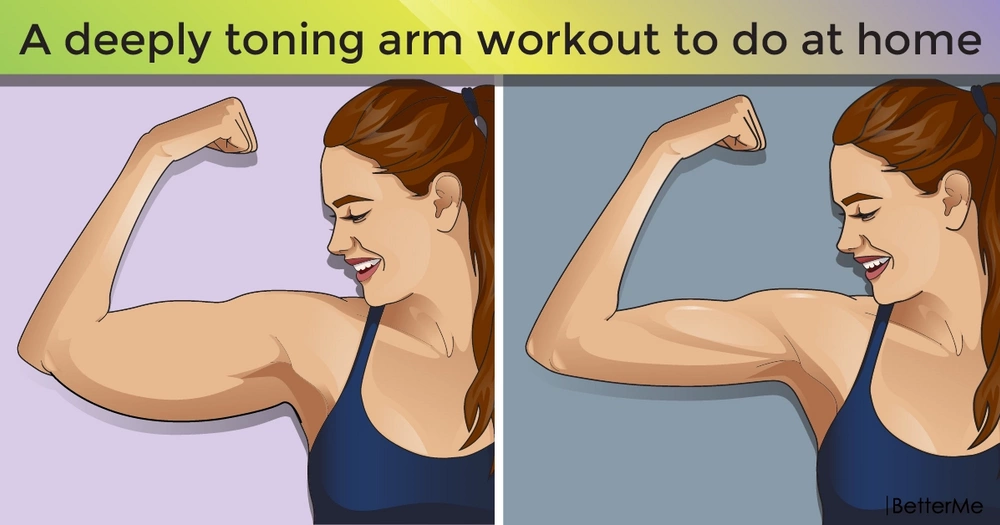 A deeply toning arm workout to do at home