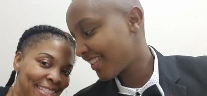 Kenyan lesbian gets married to American beauty in simple wedding