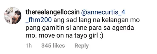 Angel Locsin slams netizen reviving past issue with Luis Manzano, Jessy Mendiola