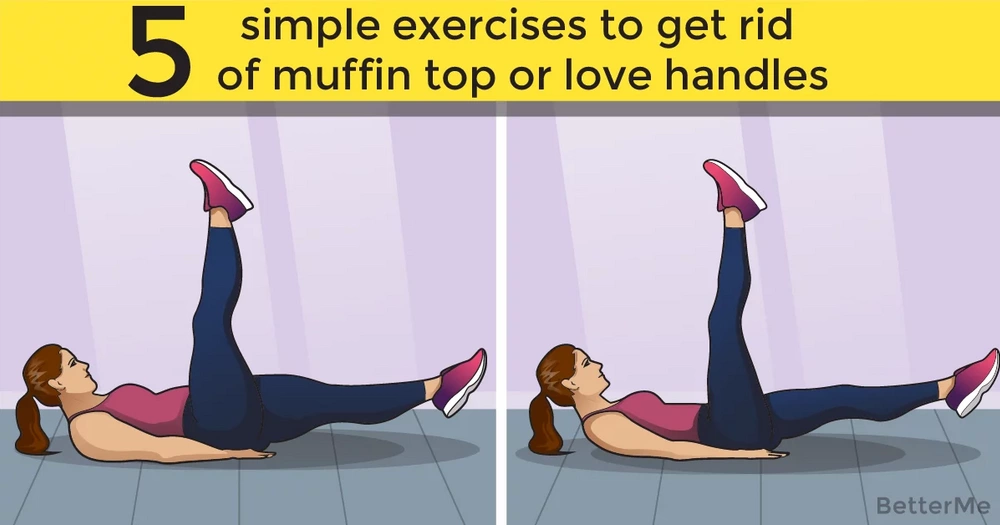 5 simple exercises to get rid of a muffin top or love handles