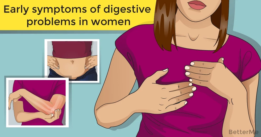 Early symptoms of digestive problems in women