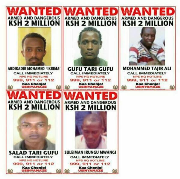 Police hunt down 5 wanted al-Shabaab men
