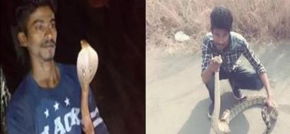 Wag kasi puro selfie! Man dies after taking selfie with cobra